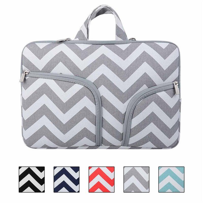 new light Green grey black red wave Canvas Laptop handbag for macbook air 13 pro retina 13 Sleeve Case Bag 13.3inch laptop bag<br><br>Aliexpress