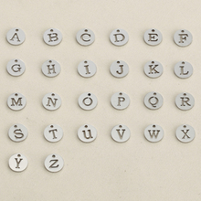 Buy 5pcs Stainless Steel Hollow Initial Charms Disc Pendant Alphabet A-Z Letter Tag Charms Stamp Alphabet Round Charms Jewelry for $69.71 in AliExpress store