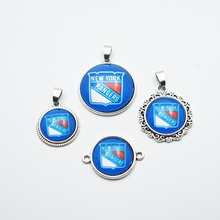 20PCS NHL NY Rangers Metal Sport Team Pendant Jewelry For DIY Sport Fans Necklace / Bracelet Jewelry(China)