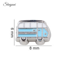 20pcs/lot Newest Alloy Metal Floating Locket Charms Lovely Bus Charms for Magnetic Glass Locket Wholesale