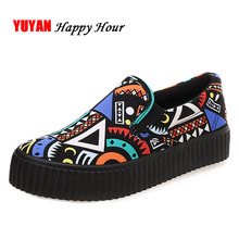 New 2017 Spring Autumn Bohemian Loafers Women Brand Flat Shoes Elegant Casual Canvas Shoes Muffin Bottom Free Shipping Y007(China)