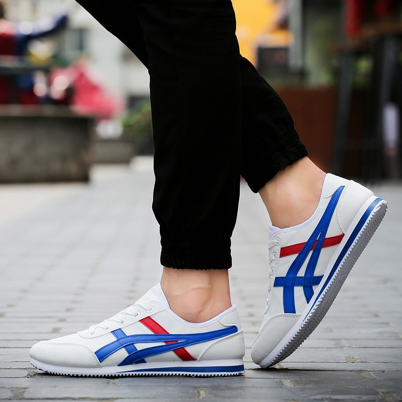 2017 Man Casual Shoes  New Brand Autumn Style Suede Leather Lace Up Flat Mens Trainers Zapatillas Hombre Breathable Canvas Shoes<br><br>Aliexpress
