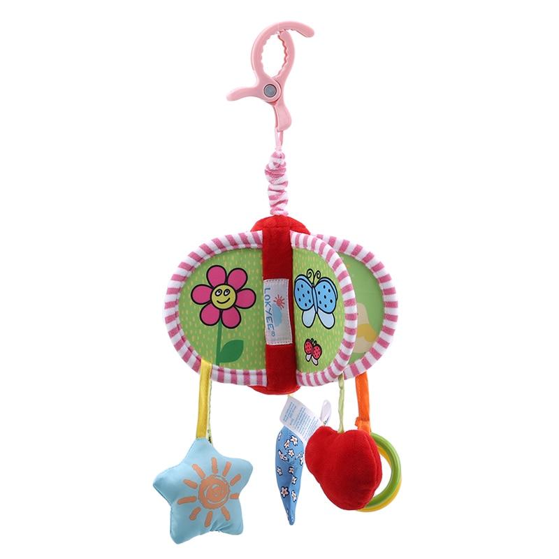 Lokyee Baby Cribs Stroller Rattle Ring Bell Musical Plush Animal Hanging Toys