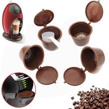 4 шт./компл. Кофе капсулы с 1 шт. Пластик ложка многоразового Кофе капсула 200 раз многоразовые совместимый для Nescafe Dolce Gusto(China)