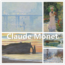 Claude Monet Collection 1 , Fridge, Wall and Glass Sticker, Furniture Decor, Blu-tack As Gift, Easy to Stick, No Harm to Surface