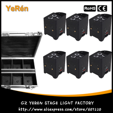 6 pack Battery Powered LED Par Light Wash Effect Uplighting DMX Wireless RGBWA 5 in 1 Color IRC Control(China)