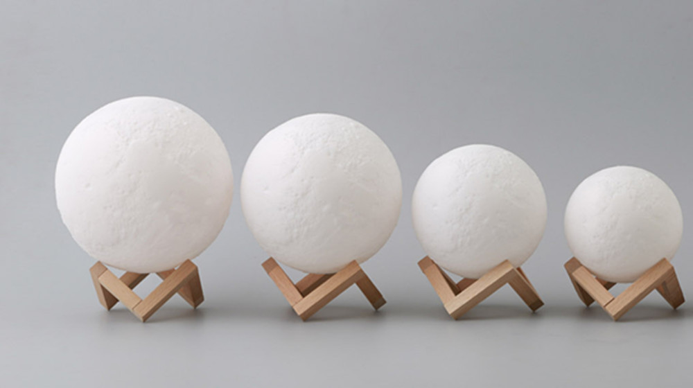 different size 3d print moon lights