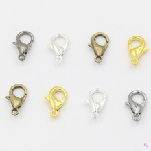 10mm Antique Silver Plated Lobster Trigger Claw Clasps Connector Jewelry Accessories DIY for Jewelry Findings 100pcs/lots