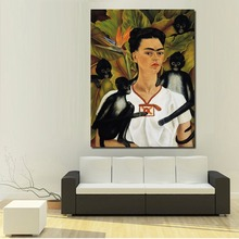 WANG ART Frida Carol And Monkeys Paintings For Living Room Wall Paintings On Canvas Oil Painting Wall Painting No Frame
