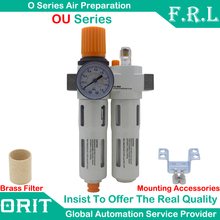 FESTO Type OU-MINI G1/4'' In line Air Compressor Filter Regulator Gauge Trap Oil Water Separator Combination Treatment Unit New