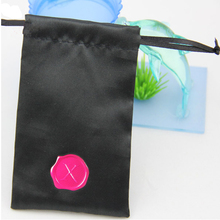 100pcs CBRL small Satin drawstring pouches Satin jewelry pouches Satin gift pouches bags custom logo earphone bag gift bag