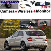Liislee For Mercedes Benz ML MB W164 ML350 ML330 ML450 ML500 Car Camera + Wireless + Mirror Monitor Parking Rear View System