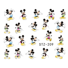 1Sheet Fashion Water Transfer Decal Nail Art Stickers Cartoon Design Manicure Decorations For Nail Accessories LASTZ209-215