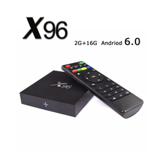 X96 2G/16G Android 6.0 Smart TV Box Kodi 16.0 S905X TV Box 2.4G Wifi 10/100M Ethernet Media Player Multi TV Channels Set Top Box