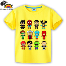 kids top High quality cotton short sleeve T-shirt boy and girl children clothing colorfull and comfortable 12 super hero family