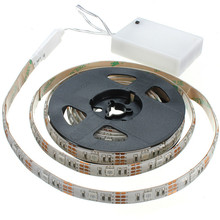 New Arrival Waterproof RGB 5050 SMD LED Strip Flexible Lights Lamp Battery Power with Mini Controller 50 100 150 200CM