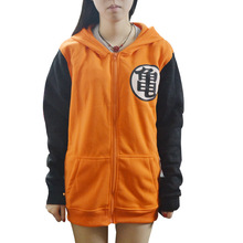 New Anime Dragon Ball Z Cosplay Costumes Hoodie Orange Goku Jacket Hooded Sweater for Unisex