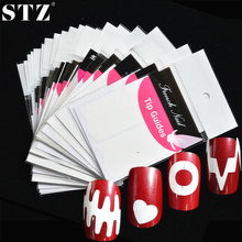 STZ Optional Beauty Tools Nail Art French Sticker Decorations Guider Tips Cute DIY Stencil Designs Manicure Decorations FJ01-22