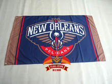 New Orleans Pelicans USA star stripe Premium Team basketball Flag 3X5FT sports decorative digital printing free shipping(China)