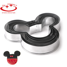 5 PCs/Set Mickey cake mold Kitchen Bakeware Baking Tools Biscuit Mickey Cookie Cutter and Cookie Stamps(China)