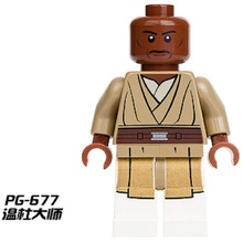 PG677 Star Wars Single Sale Jedi Master Mace Windu with Lightsaber Dolls Assemble Building Blocks Best Collection Kids Gift Toys(China)