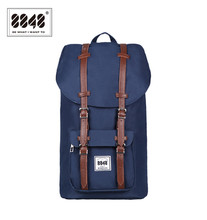 Navy Men Backpack Large Capacity 20.6 L Classical Travel Bags Solid Pattern Europe American Fashion Style Free Shipping D006-1(China)