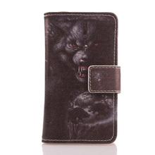 LINGWUZHE Flip PU Leather Cell Phone Case Magnetic Buckle Wallet Cover For MEDION LIFE E5005 MD 99915 5''