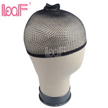 LOOF 50 Packs (600pcs) 4colors High Stretchable Elastic nylon weave net caps for wearing wigs Snood Mesh cap