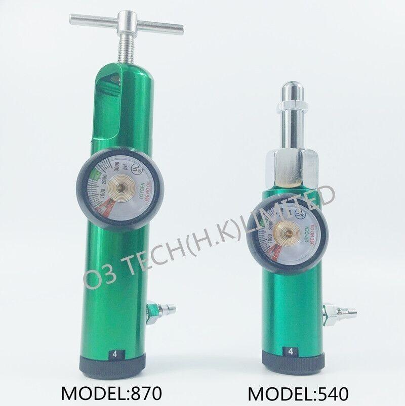 Oxygen tank regulator  Medical Oxygen cylinder flowmeter CGA connection CGA540 or CGA870 brass sleeve   0-4LPM