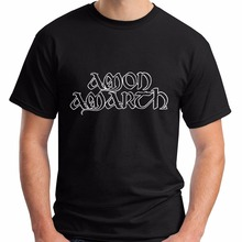 2017 t shirt men cotton summer o-neck Amon Amarth male tshirts fashion print pattern brands t-shirt mens(China)