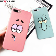STROLLIFE Funny Cartoon Character Face Emoji Phone Cases For iPhone 6 Case Slim Frosted Hard Cover Coque For iphone 6S 7Plus 5s(China)