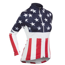 Hot sale  2017 new women's long sleeve cycling jersey USA bike clothing