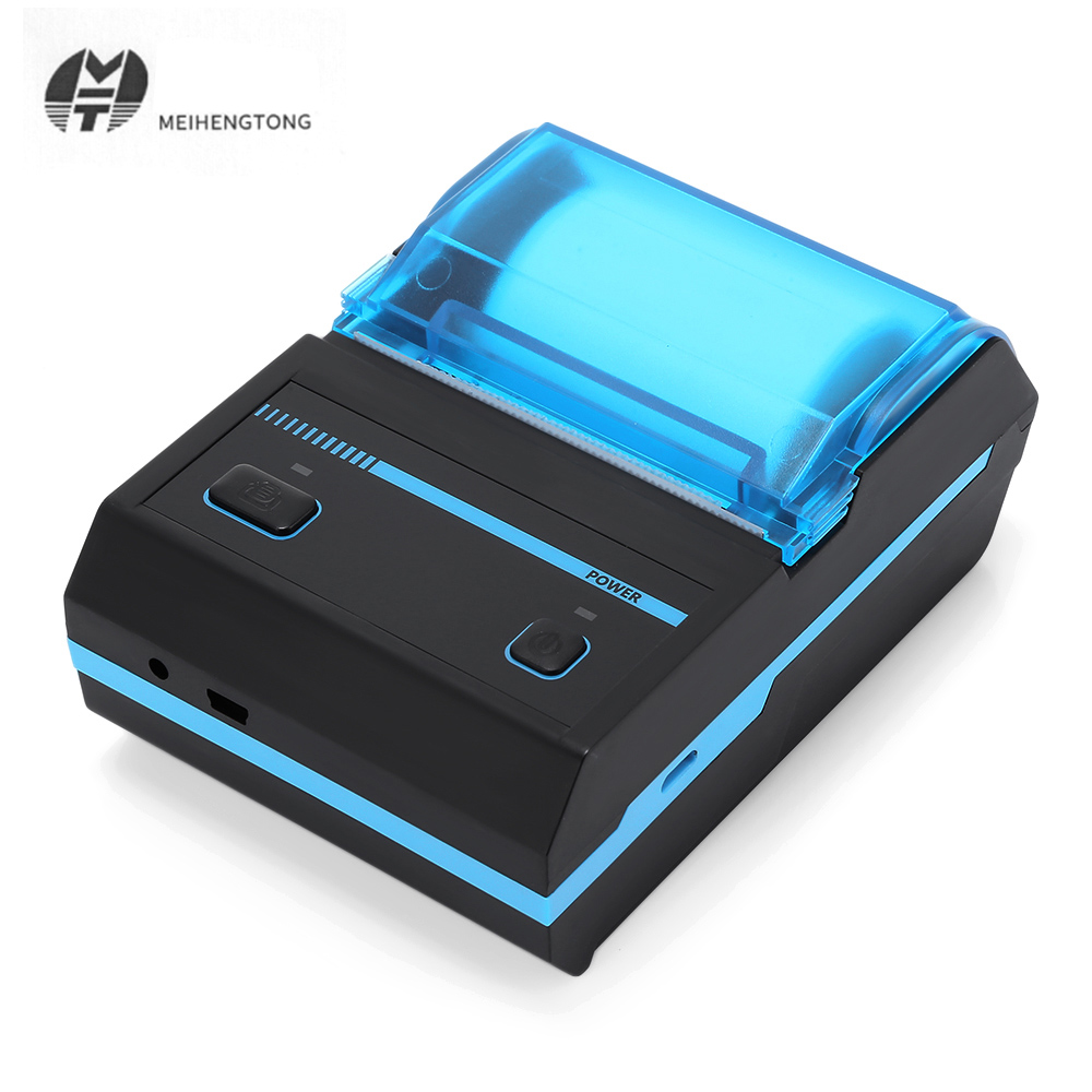 Portable Printer 58mm Bluetooth Thermal Label Printer Sticker Wireless Barcode Printer QR Code Printing Machine For Android iOS