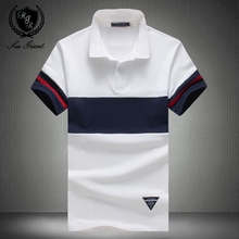Summer New Brand Polo Shirt Mens Short Sleeve Collar Solid Cotton Tees Casual Boss Clothhing Slim Man Polo Shirt Plus Size M-5XL(China)