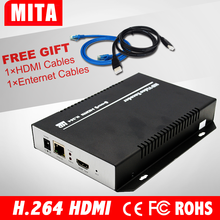 DHL Free Shipping MPEG4 /H.264 IPTV hd Encoder /HD HDMI Encoder For IPTV/ONVIF/RTMP, Live Stream Broadcast, Media Server(China)