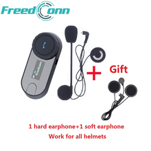 FreedConn Brand TCOM-SC Bluetooth Motorcycle Interphone Headset Helmet Intercom LCD Screen with FM Radio + Extra Soft Earpiece(China)