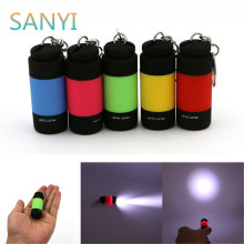 Portable Mini Keychain USB Rechargeable Pocket Torch Flashlight Light Lamp 0.3W Multicolor Mini Flashlight New Arrive