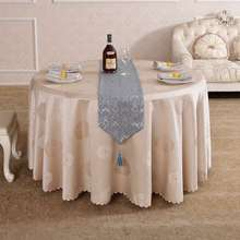 Pastoral Geometric coffee Stars Round Rectangle Square Table Cloth HotelBanquet Tablecloth On A Round Table