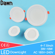High Quality 4/5/6/7.5inch LED Downlight 3w 7w 12w 18w 220V~240V Ceiling LED Down Light Recessed Lighting Home Foyer Chandelier