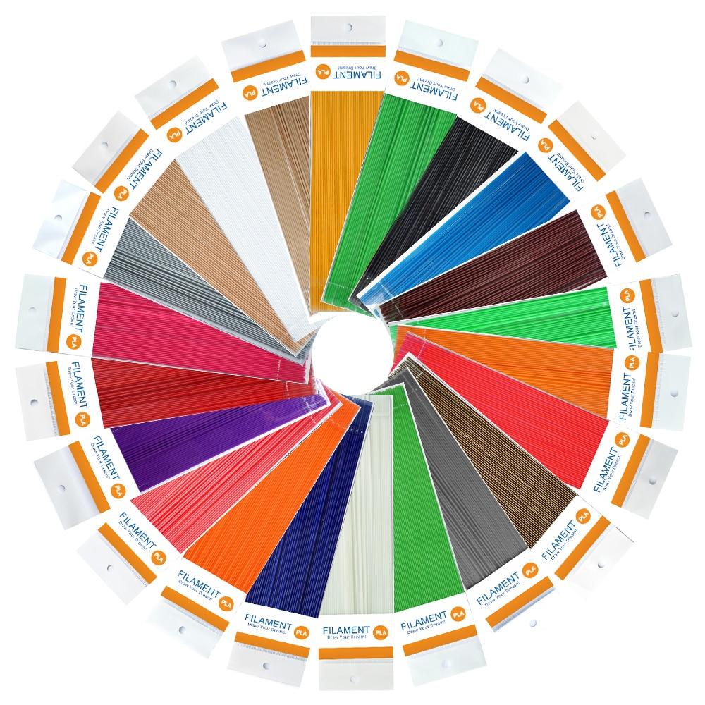 220 Meters 22 Colors 22 Bags Wholesale 1.75mm Filament Threads Printing Material 3D Pen PLA Filament <br><br>Aliexpress