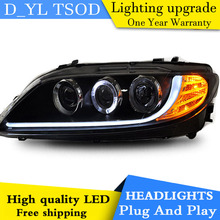 D_YL Car Styling for Mazda 6 Headlights 2004-2012 Mazda 6 LED Headlight DRL Lens Double Beam H7 HID Xenon bi xenon lens