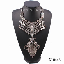 New Arrival Latest  Z  Design 2017 Fashion Heavy Alloy Chain Leopard Necklace Costume Chunky Statement Pendant Women Necklace