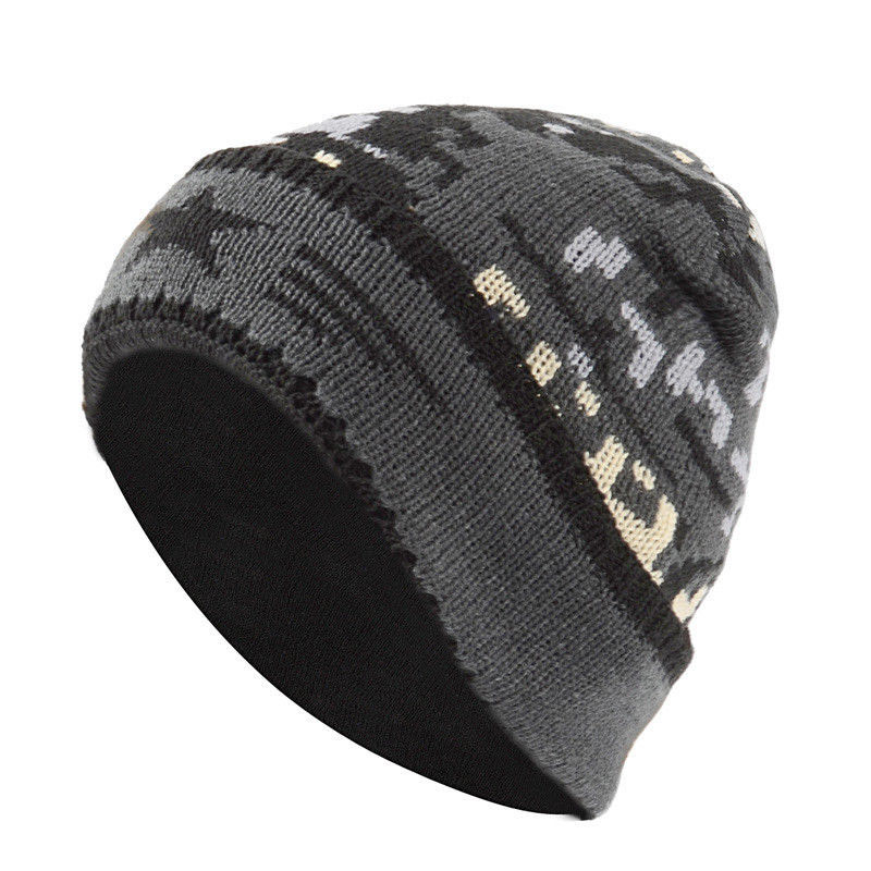 Unisex Knitted Hat Women Man Winter Warm Casual Acrylic Slouchy Hat Ski Beanie Hat Male Female Camouflage Soft Baggy Beanies