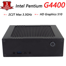 Industrial Mini PC With Intel Pentium G4400 Dual Core 4 Thread up to 3.3GHz, Barebone Mini HTPC With HD Graphics 510, 300M Wifi