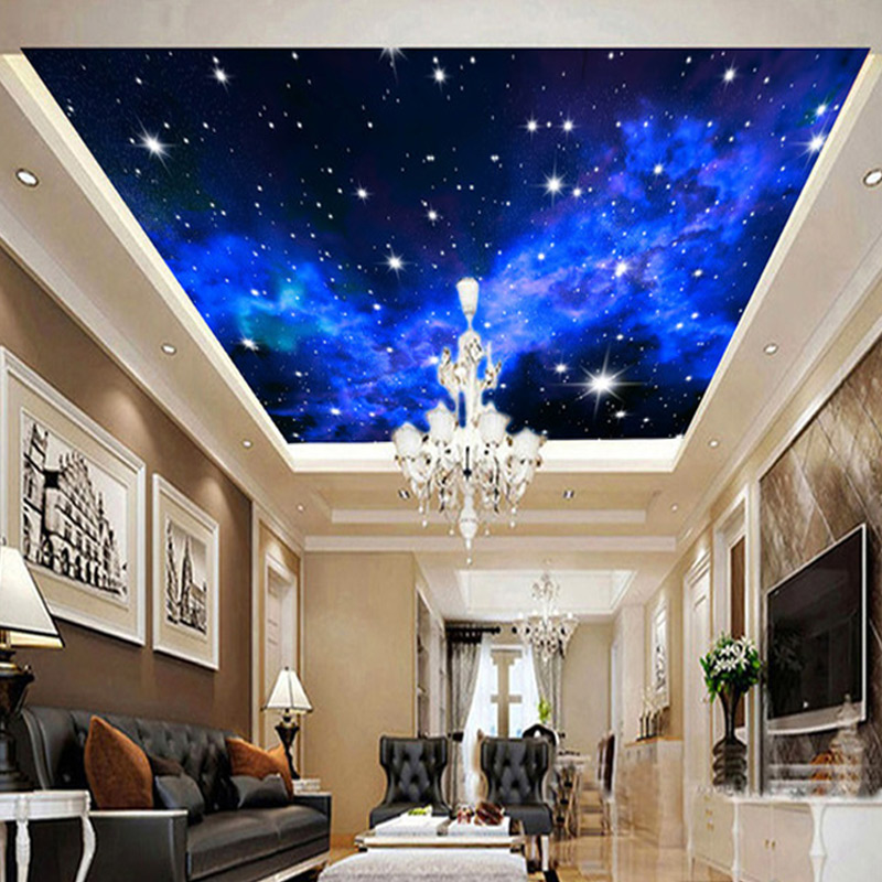 Custom Mural Wallpaper 3D Star Wall Covering Roll Hotel Living Room Bedroom Suspended Ceiling Background Non-woven Wallpaper<br><br>Aliexpress