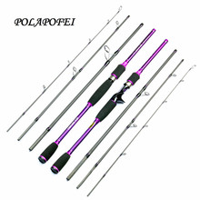 POLAPOFEI Lure Spinning Rod Carbon Fishing Rod Casting Fishing Pole Carp Peche Olta Lure Fish Tackle Feeder Daiwa Abu Garcia E(China)
