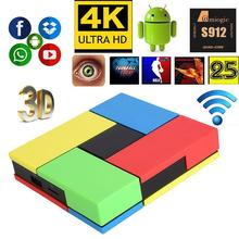 S912 2G+16G 4K Smart TV Box Android 6.0 Octa Core Bluetooth Media Player US Plug set-top box