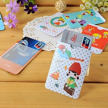 5 piece Hand-drawn cartoon fruit double two card set of bus collection binder Business ID Credit Card Holder Wallet Pocket Case