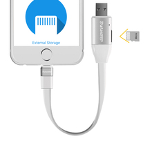 KingSpec New Item PU300 Memory Expansion,Power Charging Multi-function Smart Data Cable Sync Charging Cable For Iphone