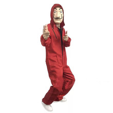 Adult Men Kids Movie La casa de papel Robber Costume Dali Jumpsuit Mask Suit Joker Cosplay  sc 1 st  AliExpress.com & Buy robber costume man and get free shipping on AliExpress.com